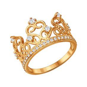 Кольцо в виде короны 93010367 SOKOLOV