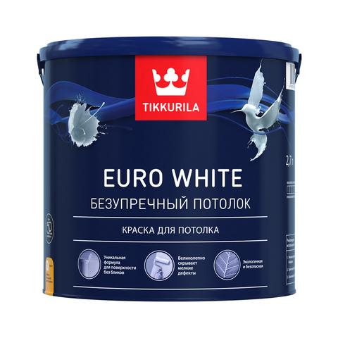 Евро Уайт краска для потолка белая глубоко матовая Euro White