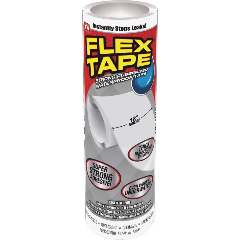 Сверхсильная Клейкая Лента Flex Tape, 25х300 См, Цвет Белый
