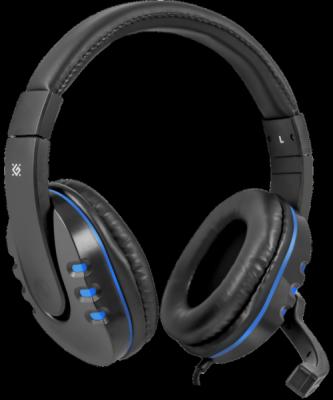 НОВИНКА. Игровая гарнитура Warhead G-160 черный+синий, кабель 2,5 м