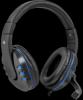 Игровая гарнитура Warhead G-160 черный+синий, кабель 2,5 м