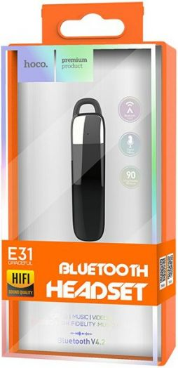 Bluetooth-гарнитура HOCO E31 Black