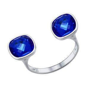 Разъёмное кольцо с кристаллами Swarovski 94011376 SOKOLOV