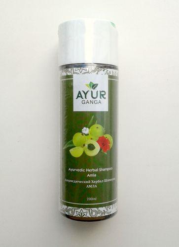 Шампунь аюрведический травяной Амла | Ayurvedic Herbal Shampoo Amla | 200 мл | AyurGanga