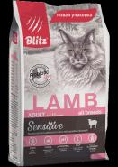 Blitz Adult Cats сухой корм для взрослых кошек «Ягнёнок» 400 г