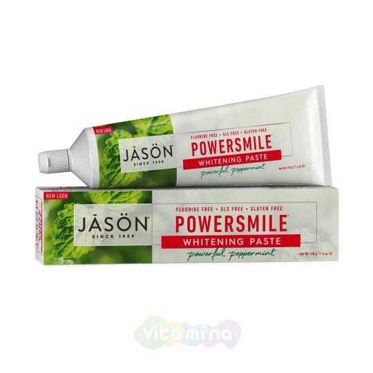 Jason Натуральная отбеливающая зубная паста «Сила улыбки» Powersmile All-natural Whitening, 170 г