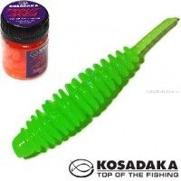 Мягкие приманки Kosadaka Leech Fat 42 мм / упаковка 9 шт / Сыр / цвет: FG