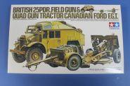 Английский тягач (Quad gun tractor) с 25 фут.пушкой