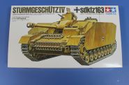 САУ на гусеничном ходу Sturmgeschutz IV(sdkfz163) с бронир.гусен.экранами и 1 фигура танкиста