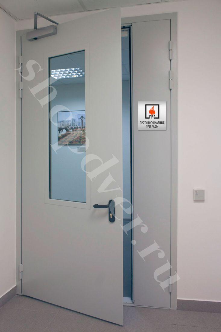 Противопожарные двери с пределом огнестойкости (EI- 60) с остеклением