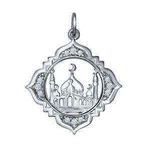 Мусульманская подвеска из серебра «Тадж Махал» 94031245 SOKOLOV