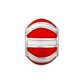 Подвеска c красно-белой эмалью 94031065 SOKOLOV
