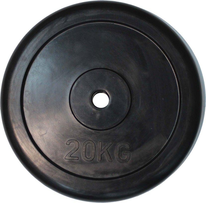 """Диск обрезиненный ZSO черный """"Classic"""" D-26, 20 кг"""