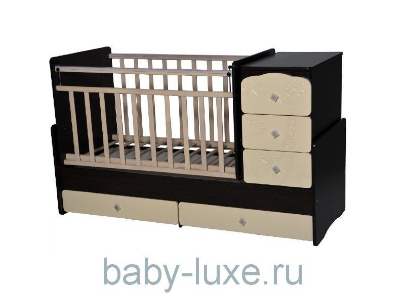 Кроватка-трансформер Ульяна-2 (Жирафик)