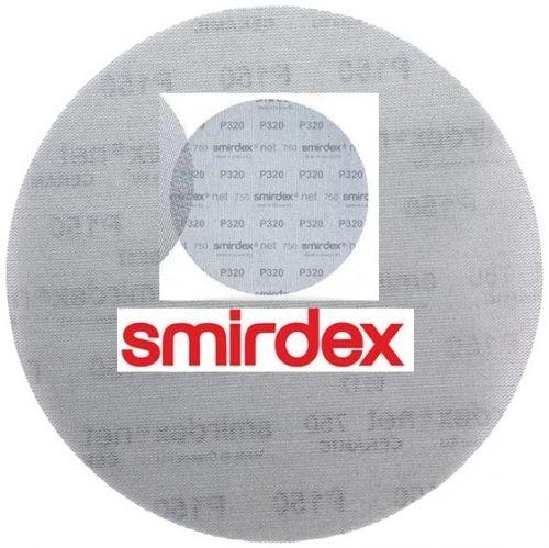 Абразивный круг сетка SMIRDEX Net P320 225 мм Velcro Discs 750
