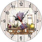 Часы деревянные ЛАВАНДА ПРОВАНС ЧС-02.13