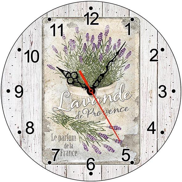 Часы деревянные ЛАВАНДА ПРОВАНС ЧС-02.14