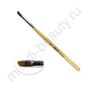 Кисть Mileo №5-1 скошенная (искусственная) для бровей