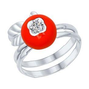 Наборное кольцо из серебра 94012193 SOKOLOV