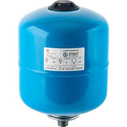 Расширительный бак 8 л., гидроаккумулятор вертикальный (цвет синий)