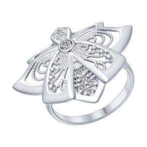 Кольцо из серебра с фианитами 94012289 SOKOLOV