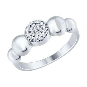 Кольцо из серебра с фианитами 94012468 SOKOLOV