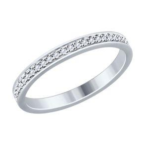 Кольцо из серебра с фианитами 94012515 SOKOLOV