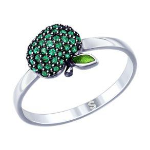 Кольцо из серебра «Яблочко» 94012540 SOKOLOV