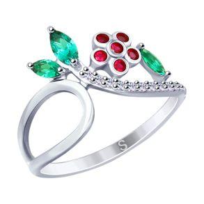 Кольцо из серебра с фианитами 94012639 SOKOLOV