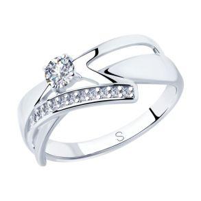 Кольцо из серебра с фианитами 94012823 SOKOLOV