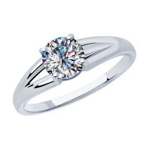 Кольцо из серебра с фианитом 94012875 SOKOLOV
