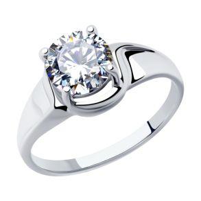 Кольцо из серебра с фианитом 94012878 SOKOLOV