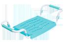 Сиденье в ванну раздвижное пластик СВ5
