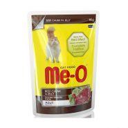 Me-O Влажный корм для кошек  говядина в желе, 80г