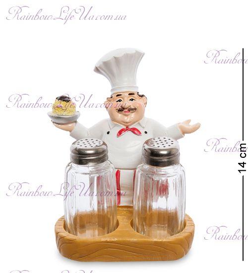 """Фигурка повар с тортом с солонкой и перечницей """"HF"""""""