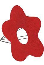 Каркас для букета Цветок №1 сизаль d 16 см. /цвет красный/