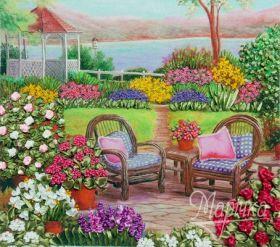 НЛ-3023 Маричка. Цветущий Сад. А3 (вышивание лентами)