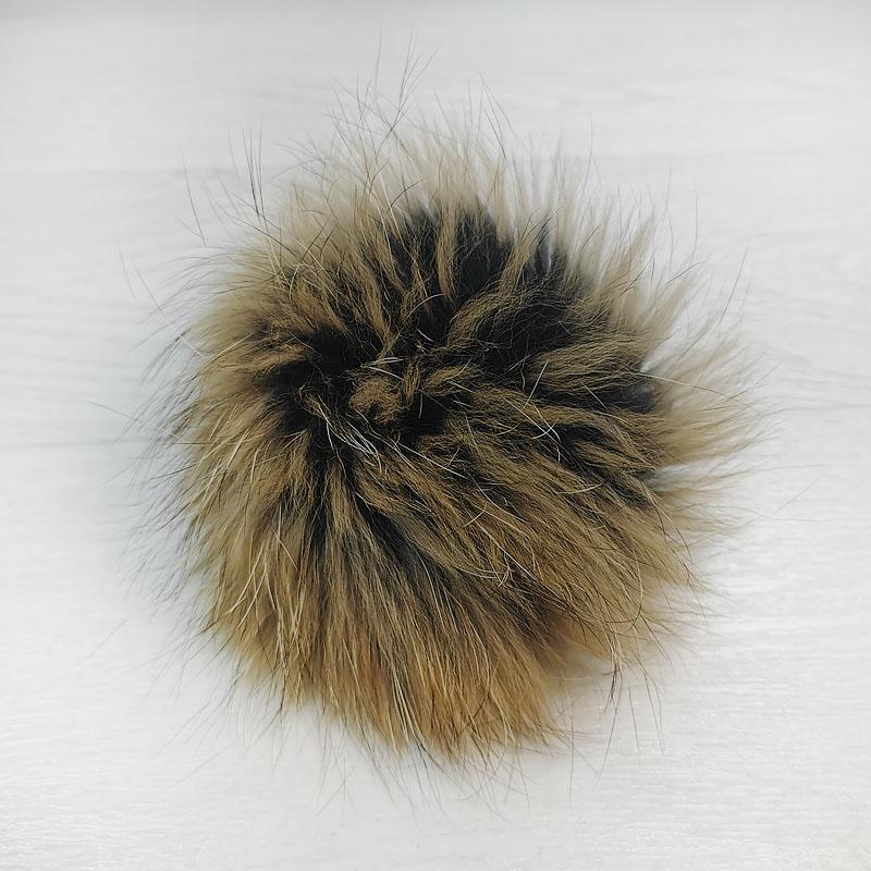 пом1004-87 Помпон из натурального меха Енот