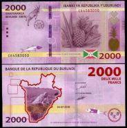 Бурунди 2000 Франков 2018 UNC