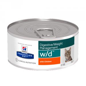 """Консервы Hill's prescription Diet w/d Feline для кошек """"Лечение сахарного диабета, запоров"""" 156 гр"""