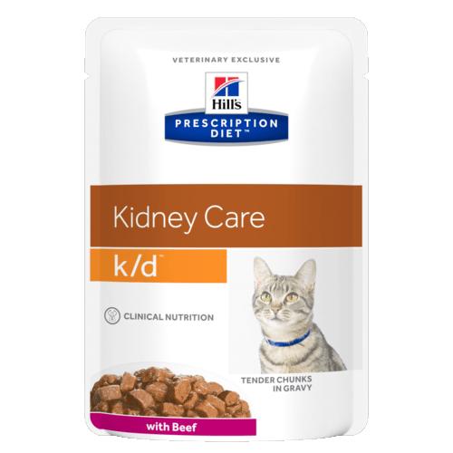 Консервы Hill's prescription Diet K/D Feline with Beef паучи K/D для кошек при лечении почек с говядиной 85 гр