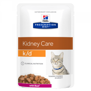 Консервы Hill's prescription Diet K/D Feline with Beef паучи K/D для кошек при лечении почек с говядиной 85 гр