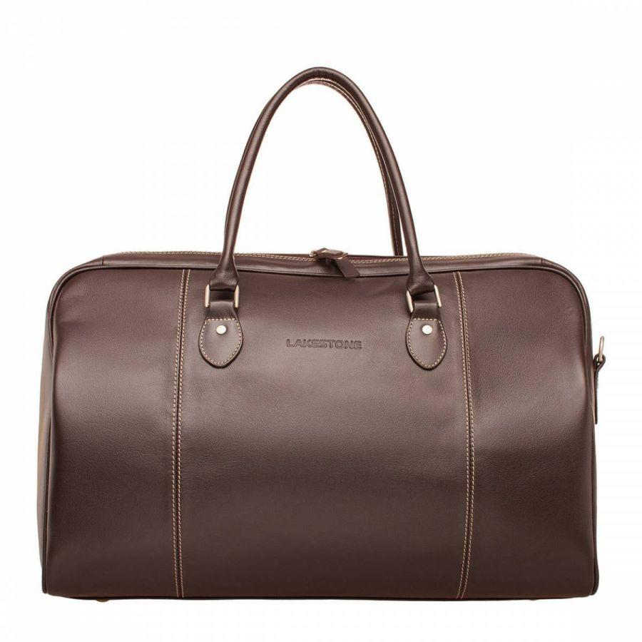 Дорожная сумка Lakestone Davis Brown из кожи