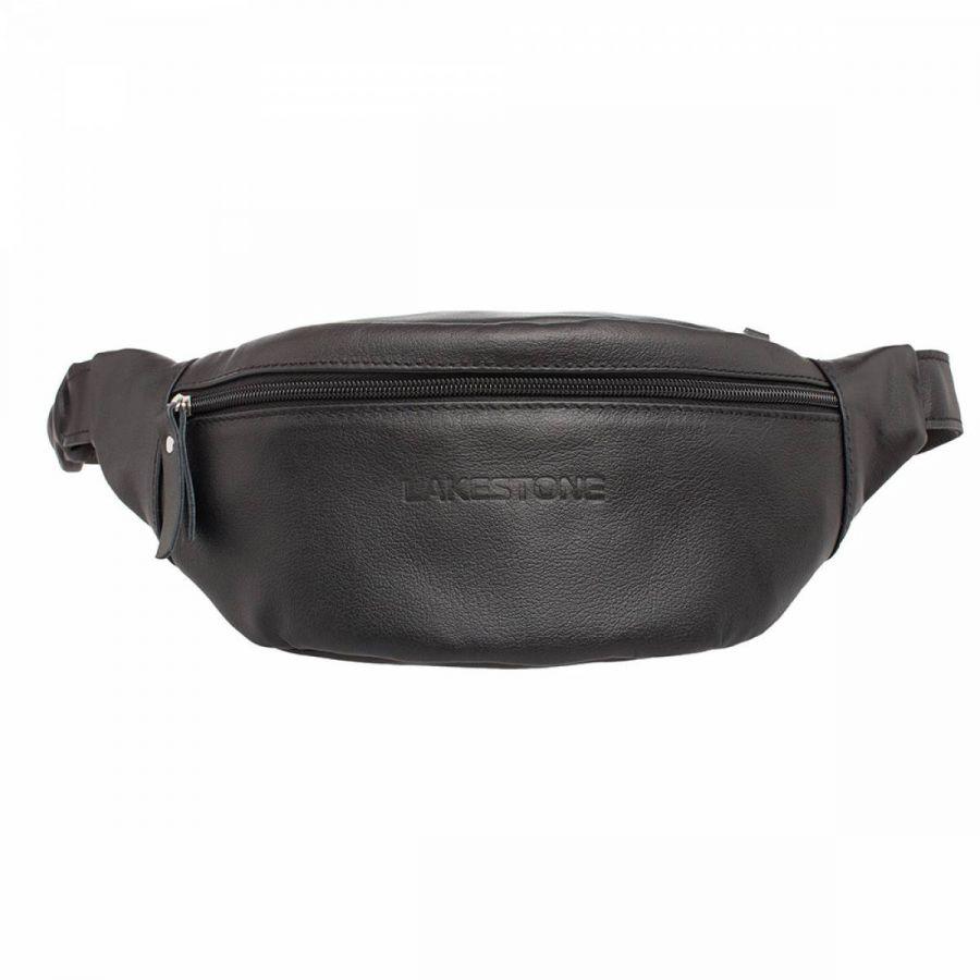 Кожаная поясная сумка Lakestone Ellis Black