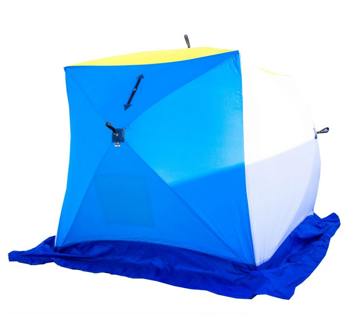 Палатка   зимняя Стэк КУБ-2 трехслойная дышащая 185*185*180