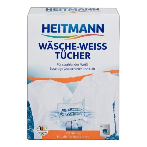 Heitmann Салфетки для стирки белого белья, 20 шт.