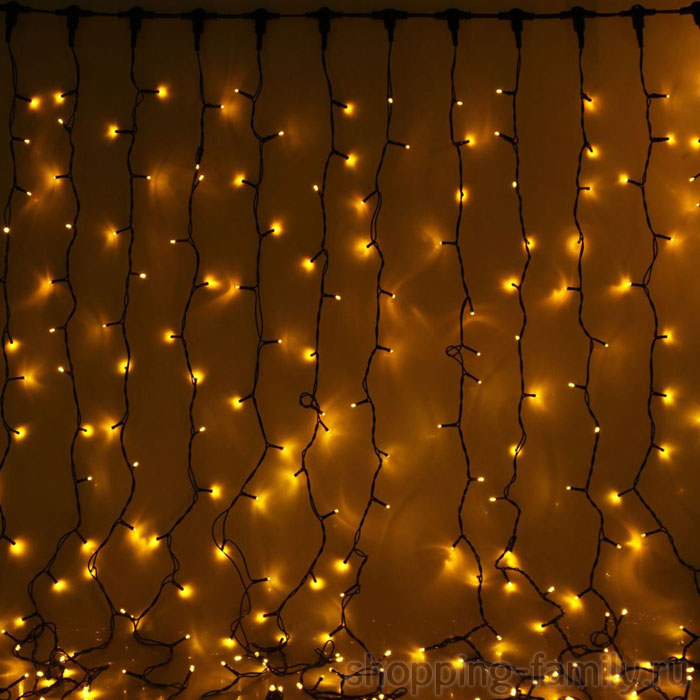 Светодиодная гирлянда Шторка 400 LED , 3*2,5 м. Цвет Желтый
