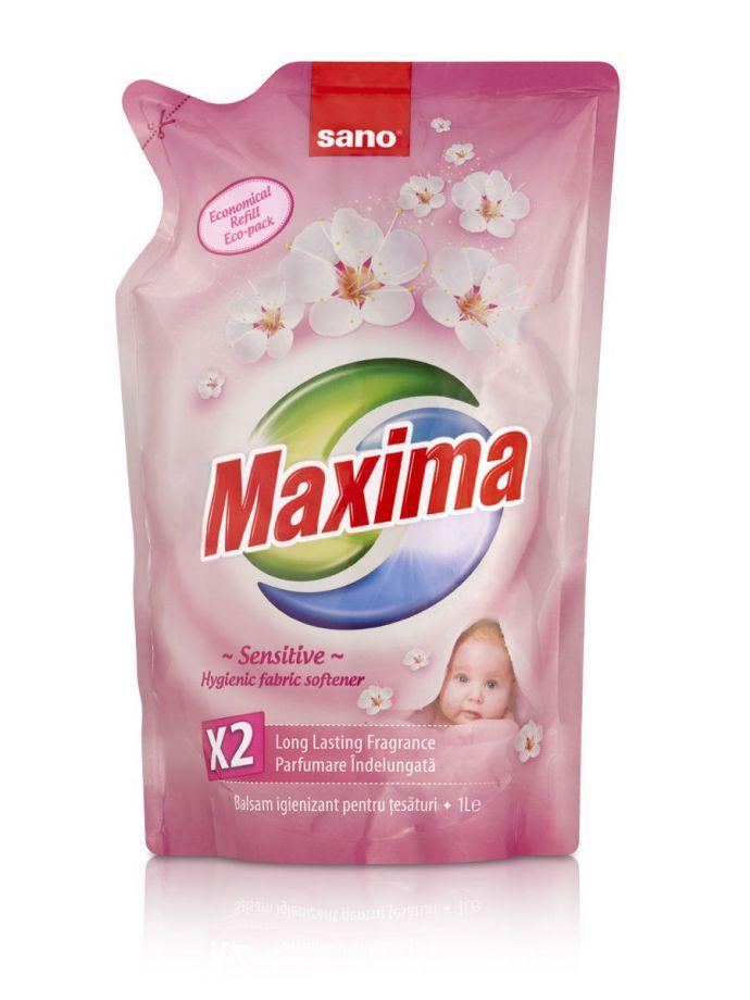 Sano Maxima Fabric Sensitive смягчитель белья 5 в 1 запаска, 1 л