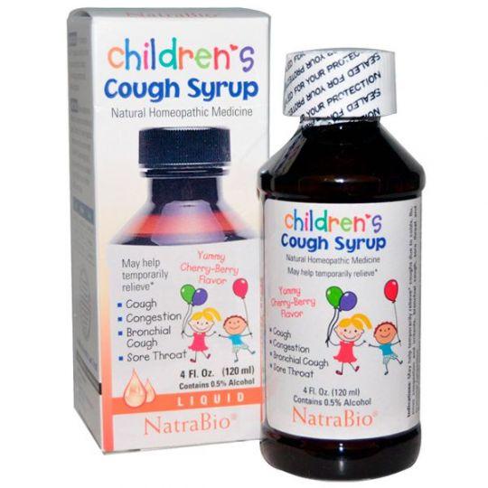 NatraBio Chilren's Cough Syrup, Детский сироп от кашля с вишневым вкусом, 120 мл