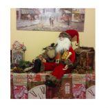 Санта Клаус сидящий 65 см